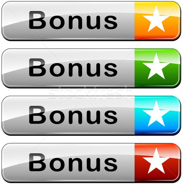 бонус веб Кнопки иллюстрация четыре дизайна Сток-фото © nickylarson974