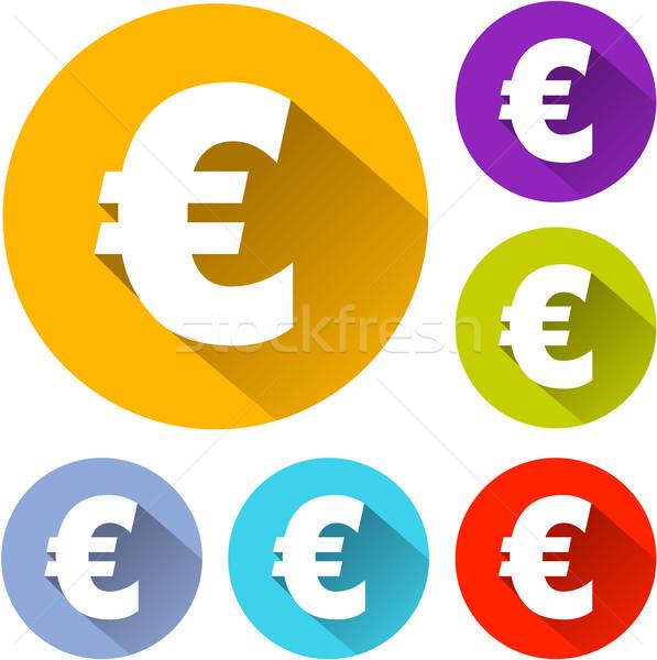 euro icons Stock photo © nickylarson974