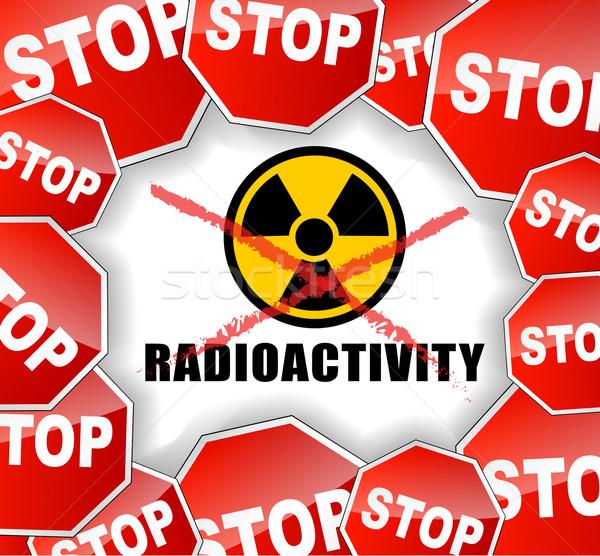 Stop radioaktivitás terv ipar fekete bolygó Stock fotó © nickylarson974