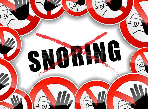 no snoring Stock photo © nickylarson974