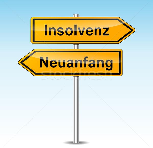 insolvency sign (german translation) Stock photo © nickylarson974
