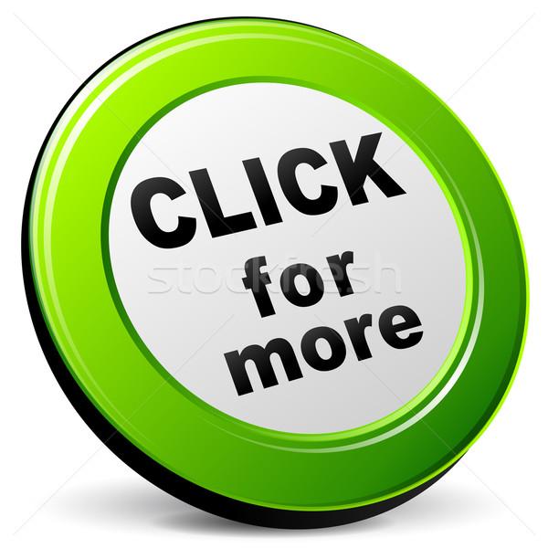 Vector click 3d icon Stock photo © nickylarson974