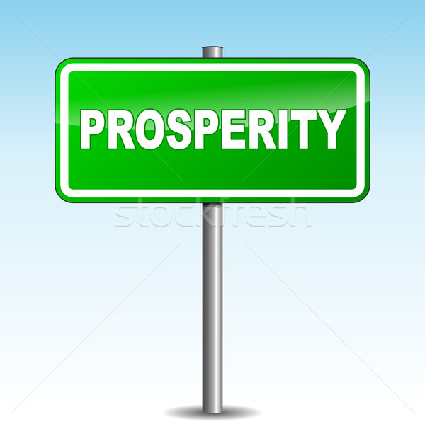Stock photo: Vector prosperity signpost