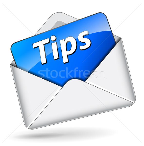 Vecteur conseils enveloppe mail icône travaux Photo stock © nickylarson974