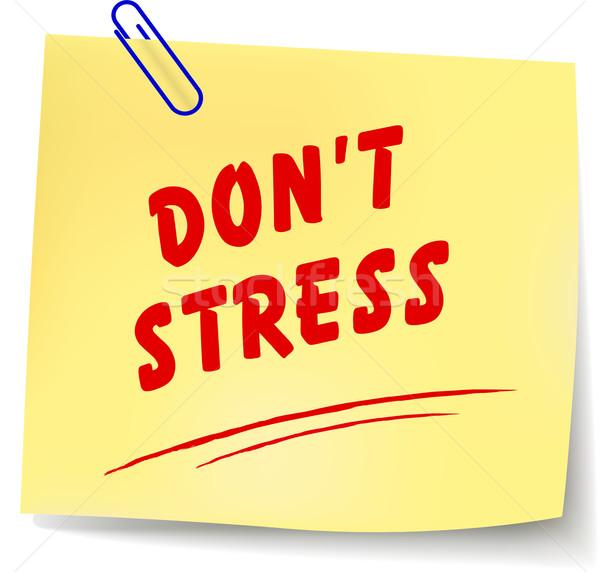 Vector no stress message Stock photo © nickylarson974