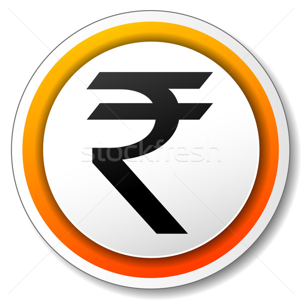 Vector rupee icon Stock photo © nickylarson974