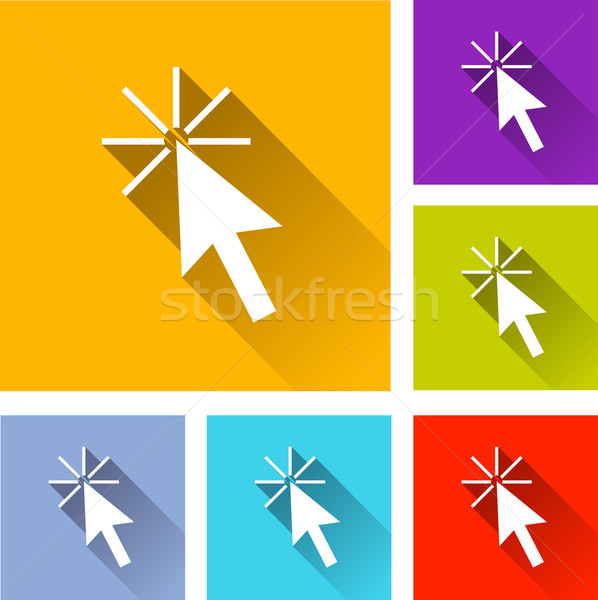 cursor icons Stock photo © nickylarson974