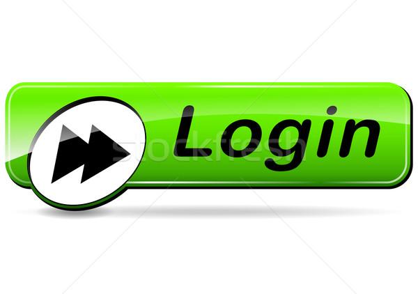 login green button Stock photo © nickylarson974