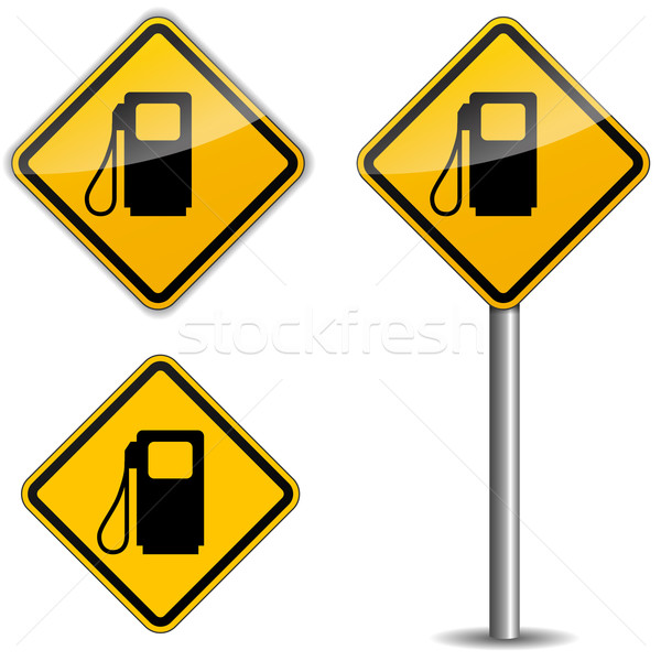 Gas roadsign Stock photo © nickylarson974