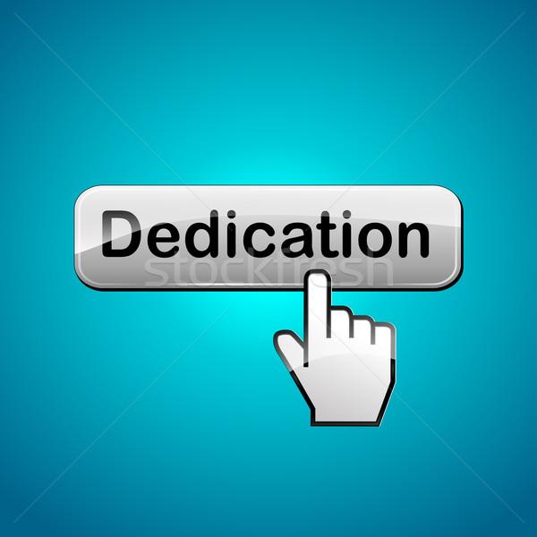 Vector dedication button concept Stock photo © nickylarson974