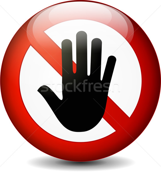 stop with hand Stock photo © nickylarson974