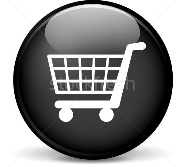 магазин икона иллюстрация современных дизайна черный Сток-фото © nickylarson974