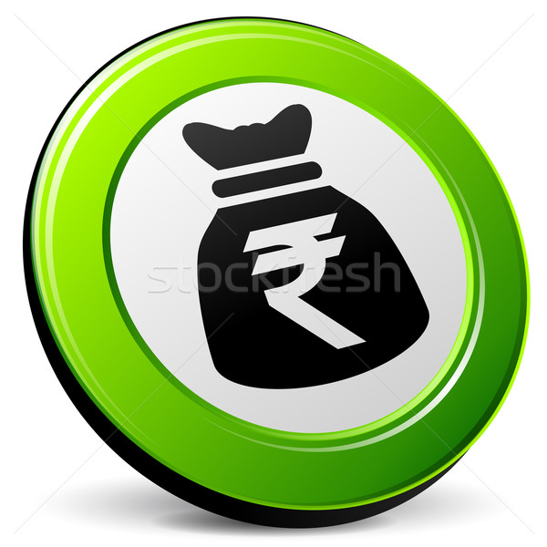 rupee 3d icon Stock photo © nickylarson974