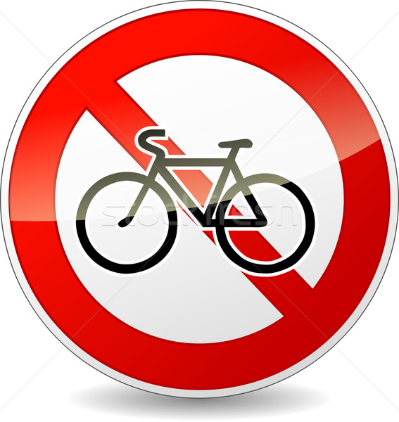 Vector isolated bicycle sign Stock photo © nickylarson974
