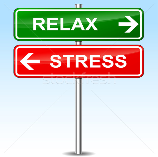 Relax and stress sign concept Stock photo © nickylarson974