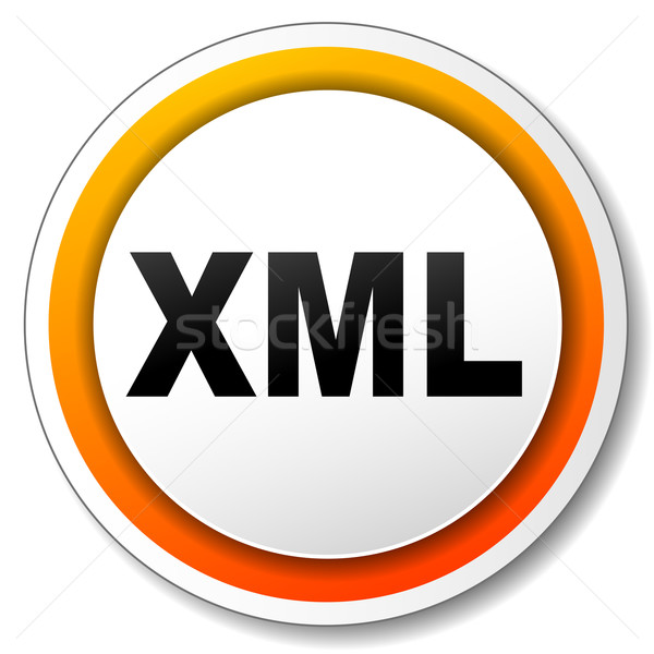 xml orange icon Stock photo © nickylarson974