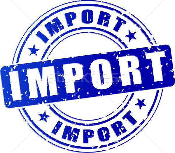 импортный икона иллюстрация синий штампа дизайна Сток-фото © nickylarson974