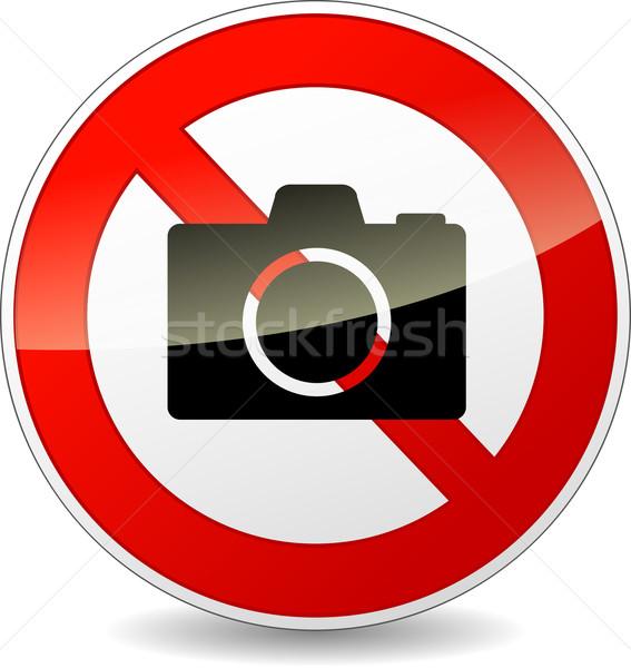 no photography sign Stock photo © nickylarson974