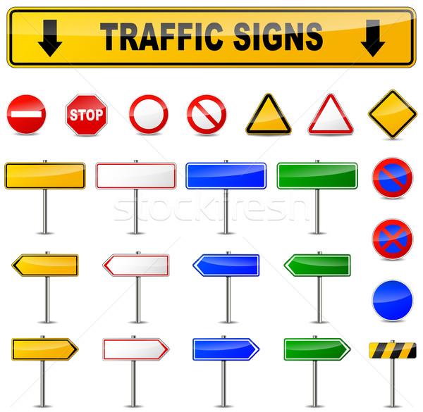 Zdjęcia stock: Różny · ruchu · znaki · ilustracja · biały · ulicy