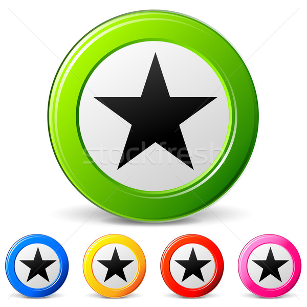 Stock photo: Vector star icons