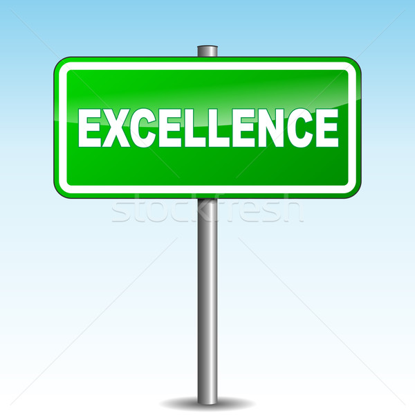 Vector excellence signpost Stock photo © nickylarson974