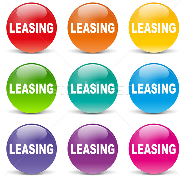 Vector leasing icons Stock photo © nickylarson974