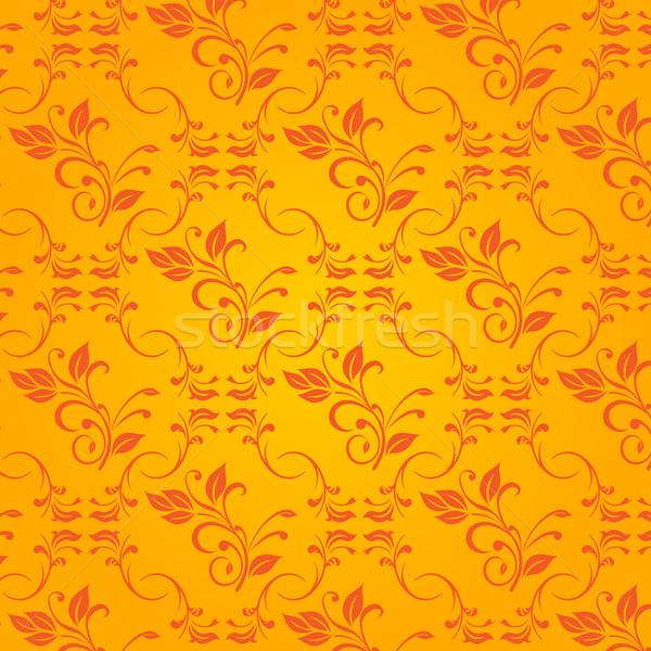 Vettore arancione barocco sfondo arte carta Foto d'archivio © nickylarson974