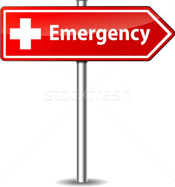 Vector emergency sign Stock photo © nickylarson974