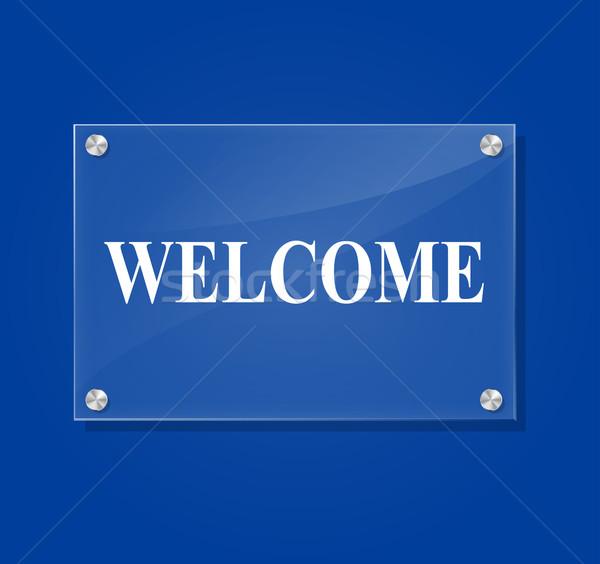 Vector welcome sign Stock photo © nickylarson974