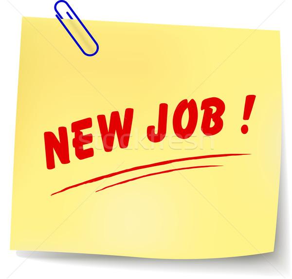 Vector new job message Stock photo © nickylarson974