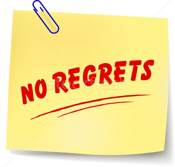 Vector no regrets message Stock photo © nickylarson974