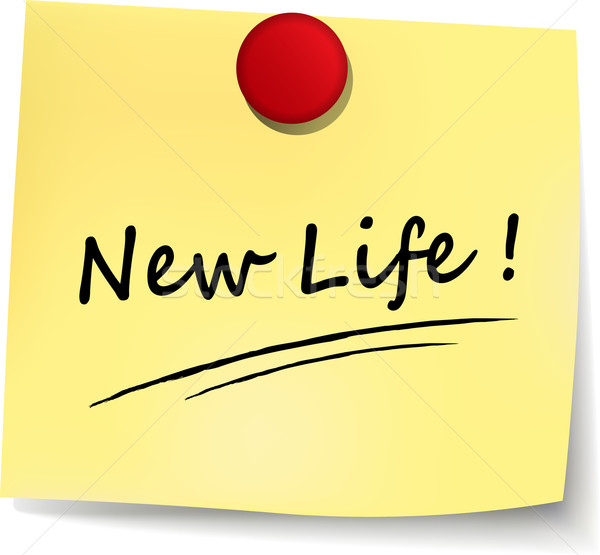 new life yellow note Stock photo © nickylarson974