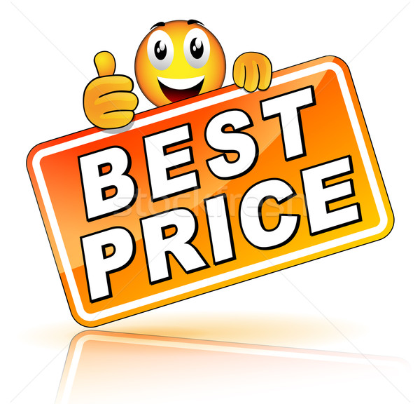 Oranje beste prijs icon store marketing verkoop Stockfoto © nickylarson974