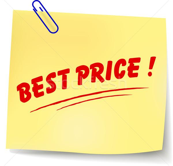 Vector beste prijs bericht papier witte abstract Stockfoto © nickylarson974