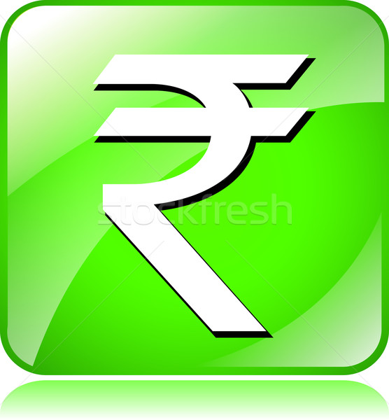 green rupee icon Stock photo © nickylarson974