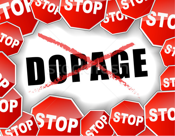 Stock photo: Stop doping french illustration