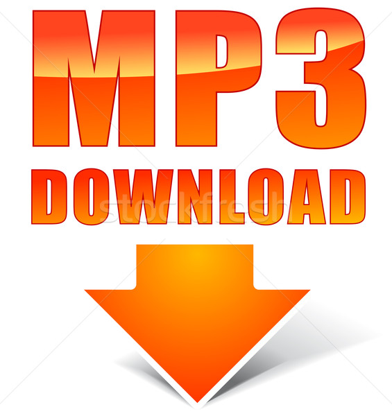 Vector orange mp3 icon Stock photo © nickylarson974