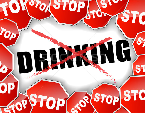 Stock photo: Stop drinking