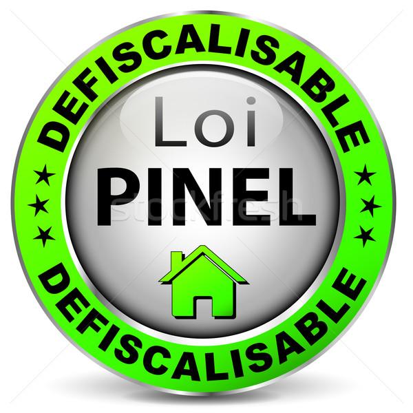 Legge design icona francese traduzione fiscali Foto d'archivio © nickylarson974