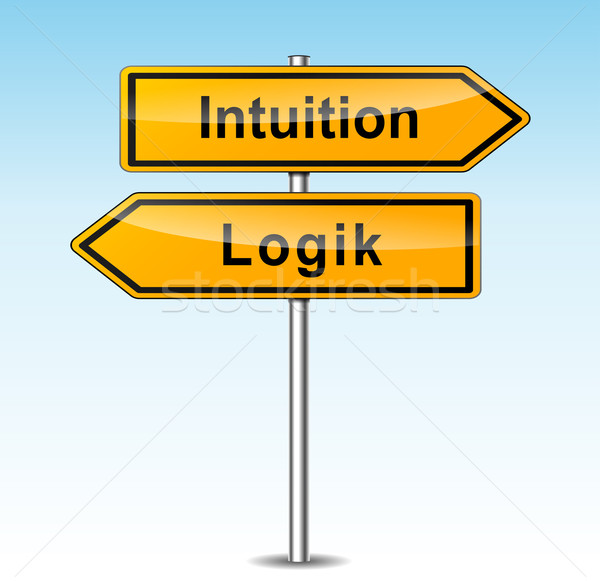 intuition and logic signs (german translation) Stock photo © nickylarson974