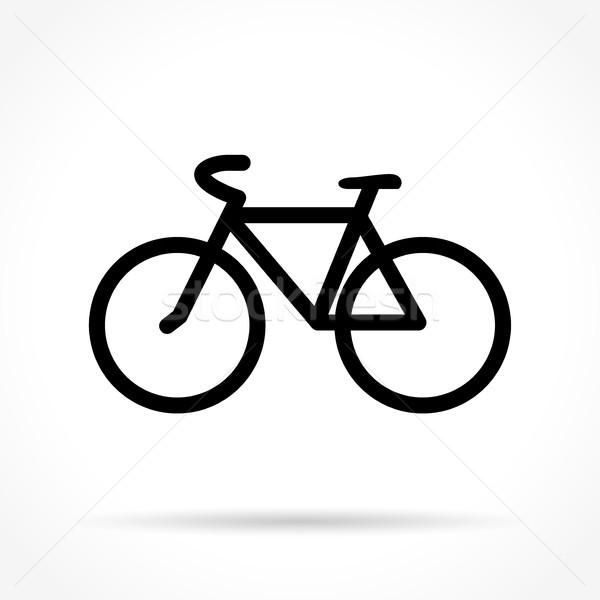 велосипед икона белый иллюстрация путешествия Сток-фото © nickylarson974