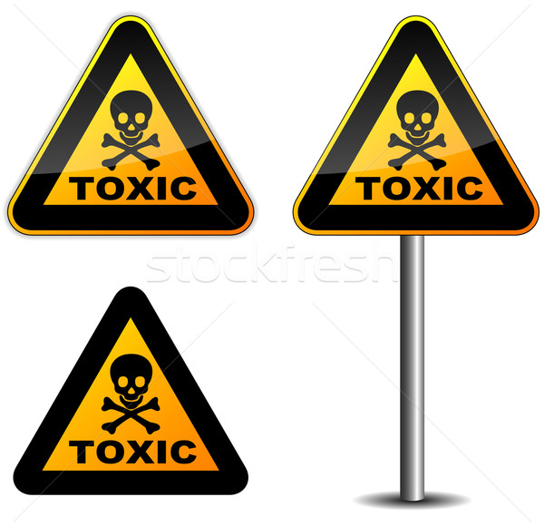 Warning toxic sign Stock photo © nickylarson974