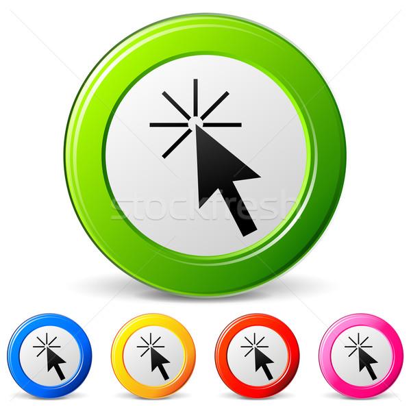 Vector clic iconos blanco ordenador teléfono Foto stock © nickylarson974