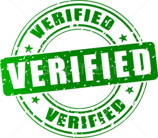 Vector verified stamp Stock photo © nickylarson974