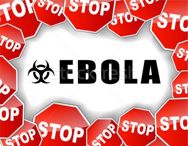 Stop ebola virus illustration Stock photo © nickylarson974