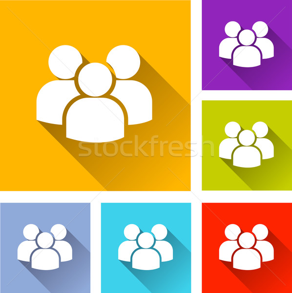 peoples icons Stock photo © nickylarson974