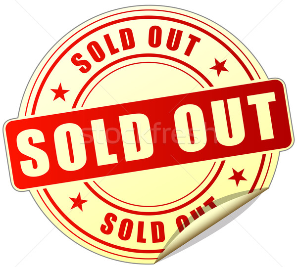 sold out label Stock photo © nickylarson974