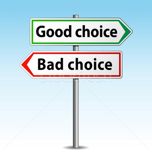 Сток-фото: вектора · хорошие · плохо · выбора · знак · бизнеса