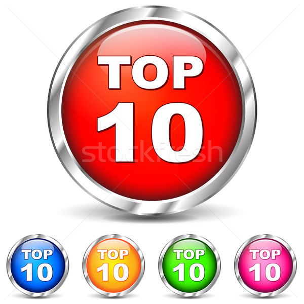 Vector top ten icons Stock photo © nickylarson974