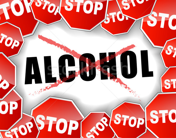 Stop alcohol vector illustration © Francois Poirier ...